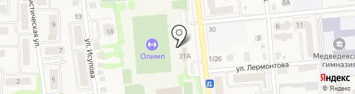 Все пучком на карте Медведево