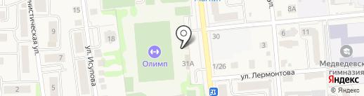 Магазин детских товаров на Советской на карте Медведево