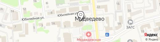 Здравушка на карте Медведево