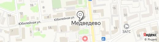 Пресса на карте Медведево