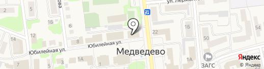 Капитал на карте Медведево