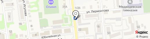 МегаФон на карте Медведево