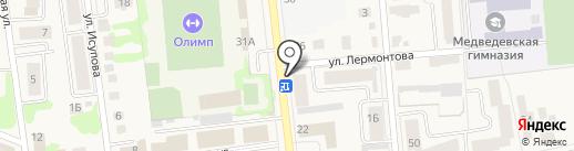 Торгово-производственная фирма на карте Медведево