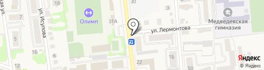 Кузя на карте Медведево