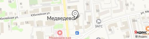 Отдел капитального строительства на карте Медведево
