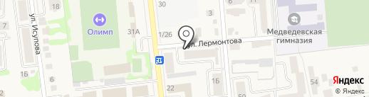 Валенсия на карте Медведево