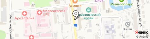Почта России, ФГУП на карте Медведево