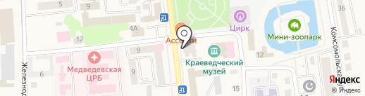 Платежный терминал на карте Медведево