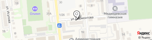 Баттерфляй на карте Медведево