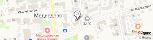 Управление Пенсионного фонда РФ в Медведевском районе на карте Медведево