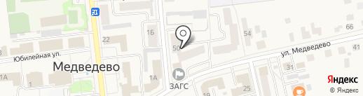Вега, ТСЖ на карте Медведево