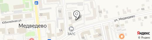 Салон цветов на карте Медведево