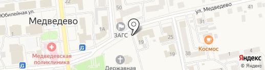Прокуратура Медведевского района на карте Медведево