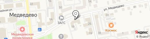 Центральная библиотека Медведевского района на карте Медведево