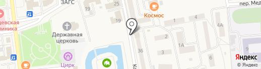 Сеть продуктовых магазинов на карте Медведево