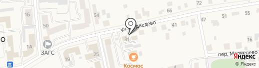 Медведевское отделение вневедомственной охраны на карте Медведево