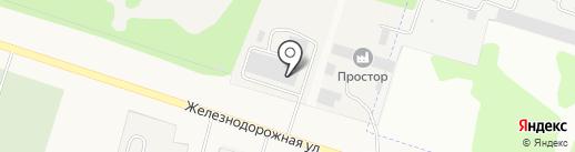 Глобус на карте Медведево