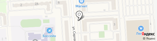 Вырастайка на карте Медведево