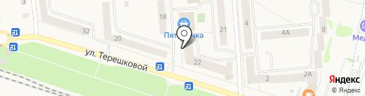 Терешковский на карте Медведево