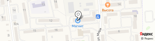 Магнит на карте Медведево