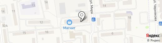 Мясокомбинат Звениговский на карте Медведево