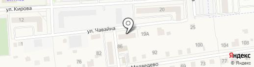 Казанский Посад на карте Медведево