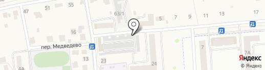 Некрасовский на карте Медведево