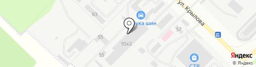 Техно-пласт на карте Йошкар-Олы