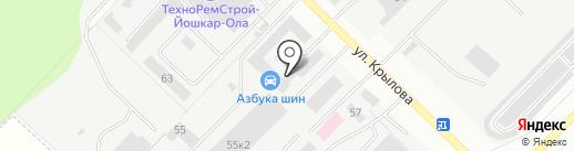 Авторемонт на карте Йошкар-Олы