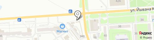 Жареный бугор на карте Йошкар-Олы