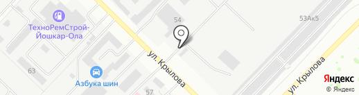 УМиТ на карте Йошкар-Олы