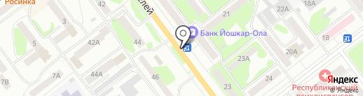 Каравай на карте Йошкар-Олы