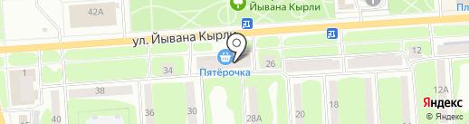 100% МЕБЕЛЬ на карте Йошкар-Олы