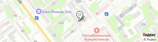 Дуэт на карте Йошкар-Олы