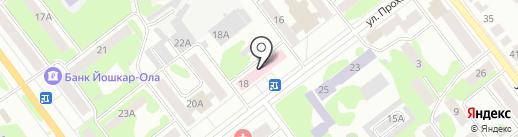 Поликлиника №4 на карте Йошкар-Олы