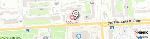 Энерджи на карте Йошкар-Олы