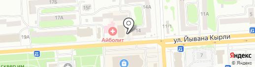Пивной рядъ на карте Йошкар-Олы