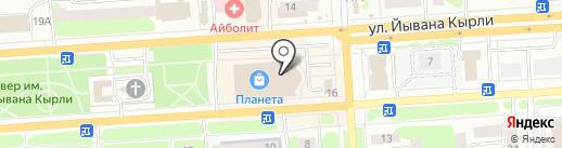 Полцены на карте Йошкар-Олы