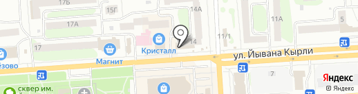 Магазин одежды на карте Йошкар-Олы