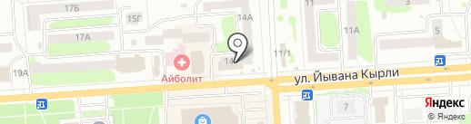 Магазин смешанных товаров на карте Йошкар-Олы