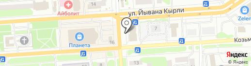 Чебоксарский трикотаж на карте Йошкар-Олы