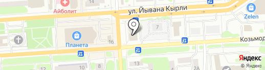 Люстры12 на карте Йошкар-Олы
