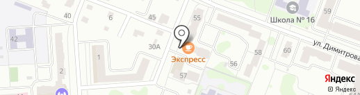 Стриж Кати на карте Йошкар-Олы
