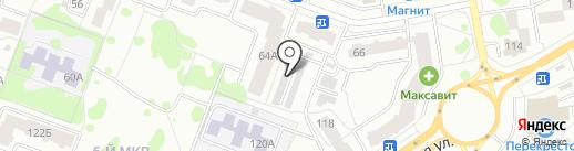 Балтика на карте Йошкар-Олы