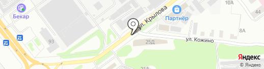 Удачный на карте Йошкар-Олы