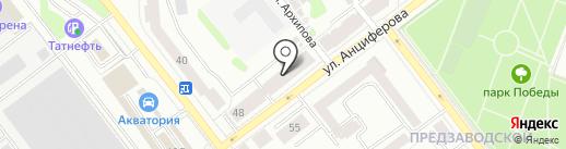 Магазин спортивных товаров на карте Йошкар-Олы