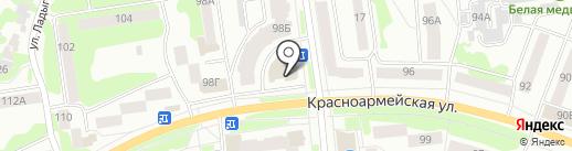 Бархат на карте Йошкар-Олы