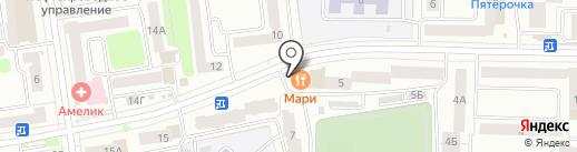 Маримаркет на карте Йошкар-Олы