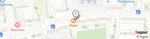 Мари на карте Йошкар-Олы