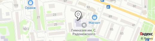 Гимназия им. Сергия Радонежского г. Йошкар-Олы, МОУ на карте Йошкар-Олы